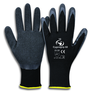 Feinstrick-Latex-Handschuh Cygnogrip 60  Front