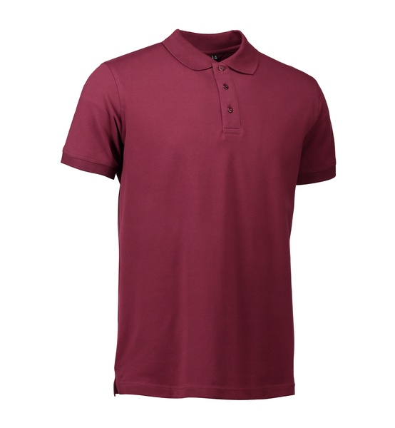 Stretch klassisches Poloshirt 0525 Bordeaux  Front