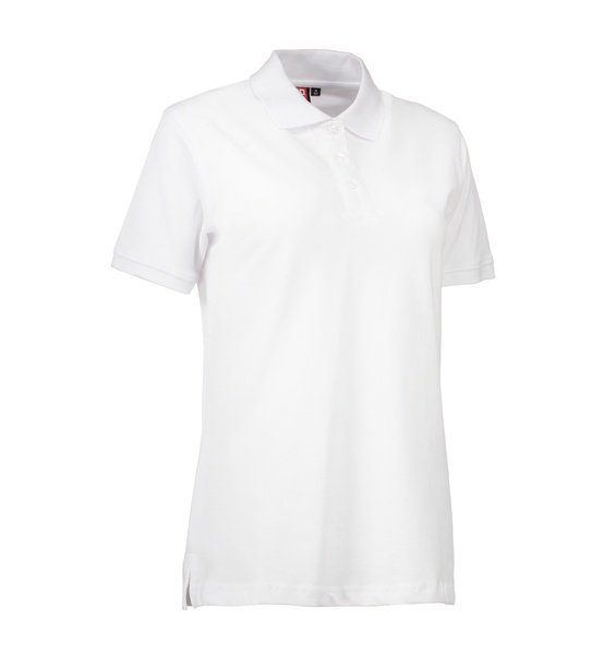 Damen Stretch Klassik Poloshirt 0527 Weiss  Front