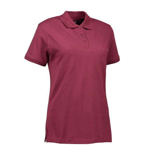 Damen Stretch Klassik Poloshirt 0527 Bordeaux  Fro
